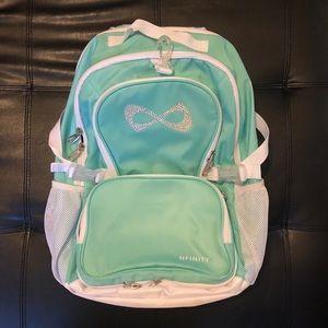 teal nfinity cheer backpack